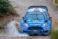 Mads Østberg/Ola Fløene (Ford Fiesta RS WRC) during the World Rally Car RACC Catalunya Costa Dourada 2016 / Rally Spain, in Catalunya, Spain. October 15, 2016. (ALTERPHOTOS/Rodrigo Jimenez) NORTEPHOTO.COM