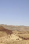 Israel, Negev, a view of Hatzera ridge at the Small Crater