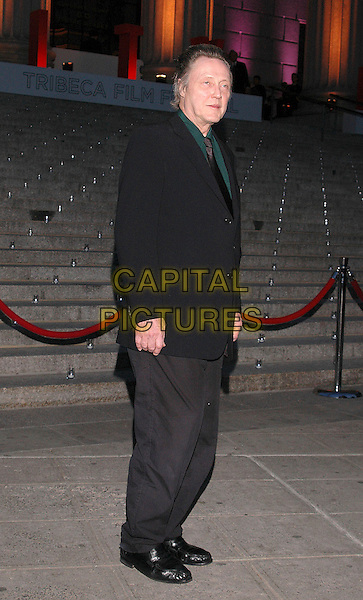 CHRISTOPHER WALKEN.Arrivals at the annual Vanity Fair Party to celebrate the Tribeca Film Festival at the State Supreme Court in downtown Manhattan, New York, USA, 20 April 2005..full length black .Ref: ADM.www.capitalpictures.com.sales@capitalpictures.com.©Patti Ouderkirk/AdMedia/Capital Pictures.