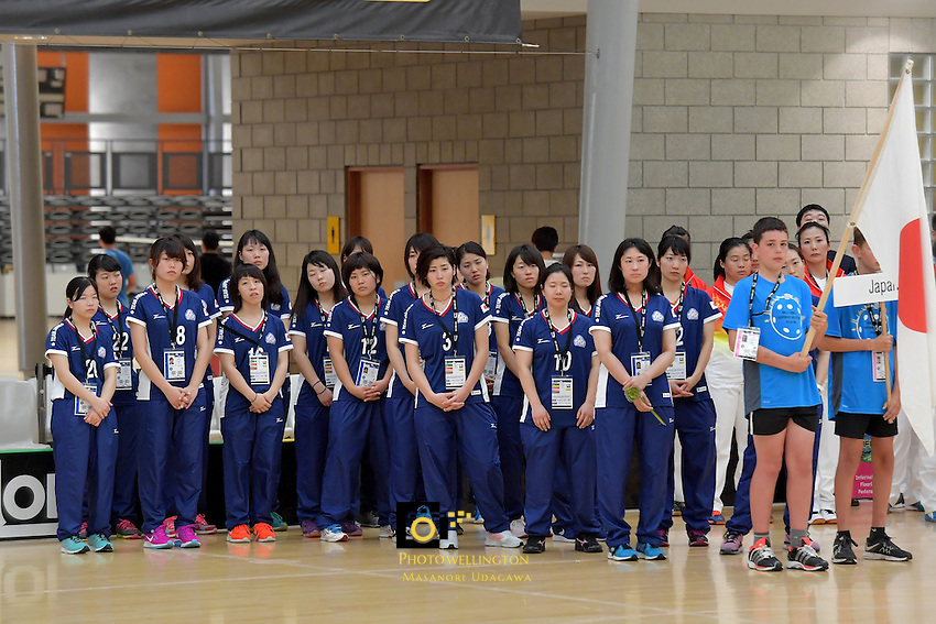 Japan Team,  World Floorball Championships 2017 Qualification for Asia-Oceania Region - Thailand v Australia at ASB Sports Centre , Wellington, New Zealand on Wednesday 31 January 2017.<br /> Photo by Masanori Udagawa<br /> www.photowellington.photoshelter.com.