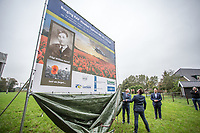 BNPS.co.uk (01202 558833)<br /> Pic: Arjan Gotink/BNPS<br /> <br /> The final resting place of a 'lost' World War Two airmen has been discovered 75 years after his plane crashed in Holland.<br /> <br /> Flight Sergeant William Hurrell was killed when his RAF Typhoon was hit by an enemy plane as he went to the aid of besieged paratroopers fighting at Arnhem.<br /> <br /> William's name was added to the Runneymede Memorial in Surrey which is dedicated to the 20,000 Allied airmen with no known grave.<br /> <br /> Now seven decades on and the Dutch authorities are preparing to excavate the crash site where they believe William's aircraft and is body are buried.