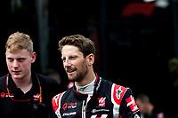 12th March 2020; Melbourne Grand Prix Circuit, Melbourne, Victoria, Australia; Formula One, Australian Grand Prix, Practice Day; Haas driver Romain Grosjean