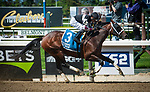 May 11, 2019: Global Campaign, ridden by Luis Saez, wins the 2019 running of the G3 Peter Pan at Belmont Park in Elmont, NY. Sophie Shore/ESW/CSM