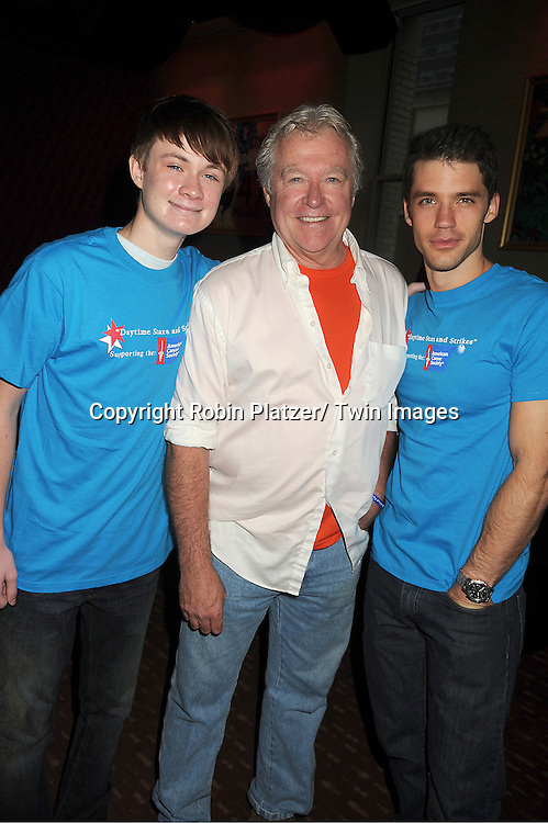 Austin Williams, Jerry verDorn and David Gregory attends the Daytime Stars and Strike Charity Event benefitting The American Cancer Society on October 7, 2012 at Bowlmor Lanes in Times Square in New York City.