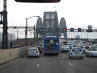 Crossing Sydney Harbour Bridge