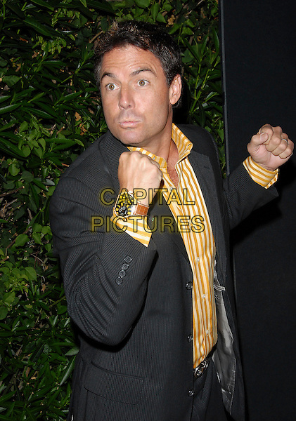 """MARK STEINES .attends Mark Burnett & AOL's Launch of """"Gold Rush"""" interactive reality competition held at Les Deux in Hollywood, California, USA, September 12th 2006..half length hands fists funny.Ref: DVS.www.capitalpictures.com.sales@capitalpictures.com.©Debbie VanStory/Capital Pictures"""