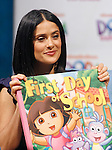 BURBANK, CA. - March 02: Salma Hayek attends Nickelodeon's launch of Dora The Explorer's 10th anniversary with the 'Beyond The Backpack' Campaign held at the Nickelodeon Animation Studios on March 2, 2010 in Burbank, California.