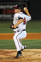Pitcher Cory Rasmus (14) of the Rome Braves at the 2010 South Atlantic League All-Star Game on Tuesday, June 22, 2010, at Fluor Field at the West End in Greenville, S.C. Photo by: Tom Priddy/Four Seam Images