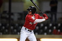 Billings Mustangs Cash Case (9) at bat during a Pioneer League game against the Grand Junction Rockies at Dehler Park on August 15, 2019 in Billings, Montana. Billings defeated Grand Junction 11-2. (Zachary Lucy/Four Seam Images)