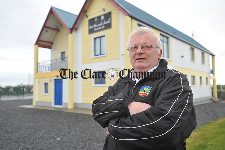Martin Reynolds, newly elected chairman of Bord na nOg hurling pictured outside the Clarecastle GAA clubhouse. Photograph by John Kelly.