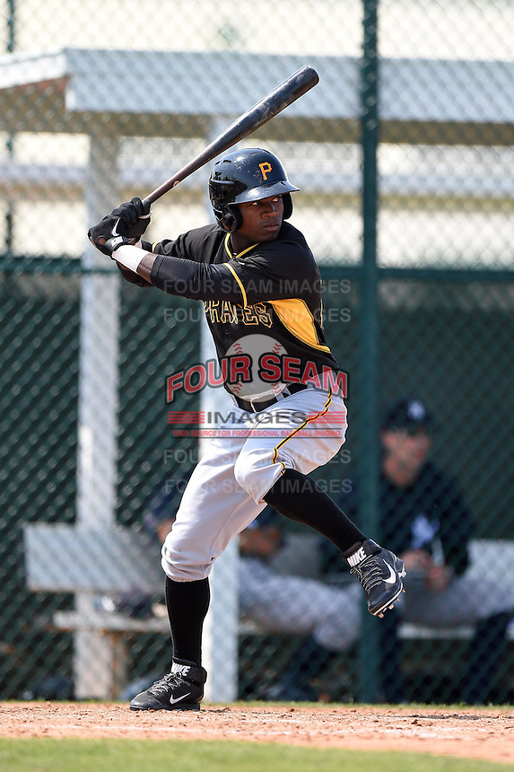 Pittsburgh Pirates Tito Polo (87) during a minor league spring training game against the New York Yankees on March 22, 2014 at Pirate City in Bradenton, Florida.  (Mike Janes/Four Seam Images)