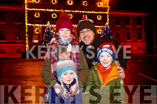 Ciara, Orla John and Seán Drummey, Tralee at the Fireworks in Tralee on New Years Eve.