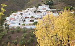 Small whitewashed village of Daimalos Vados near Arenas, Malaga province, Spain