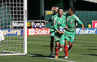Luis Miguel Noriega celebrates his goal with his teammates. Mexico defeated Nicaragua 2-0 during the First Round of the 2009 CONCACAF Gold Cup at the Oakland Coliseum in Oakland, California on July 5, 2009.