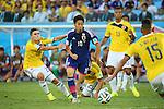Shinji Kagawa (JPN), <br /> JUNE 24, 2014 - Football /Soccer : <br /> 2014 FIFA World Cup Brazil <br /> Group Match -Group C- <br /> between Japan 1-4 Colombia <br /> at Arena Pantanal, Cuiaba, Brazil. <br /> (Photo by YUTAKA/AFLO SPORT)