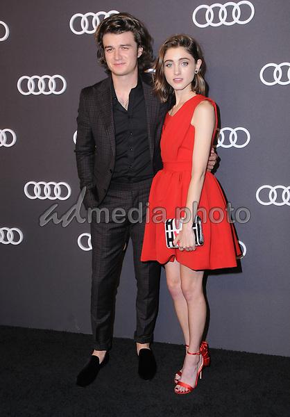 13 September  2017 - Hollywood, California - Joe Keery, Natalia Dyer. Audi Celebrates the 69th Emmys held at The Highlight Room in Hollywood. Photo Credit: Birdie Thompson/AdMedia