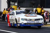Jun. 2, 2013; Englishtown, NJ, USA: NHRA pro mod driver Mike Janis during the Summer Nationals at Raceway Park. Mandatory Credit: Mark J. Rebilas-