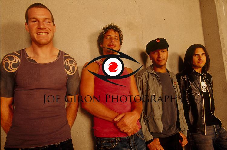 Rock supergroup, Audioslave, pose for a portrait session.