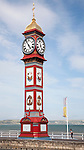 The Jubilee clock tower on the seafront at Weymouth, Dorset, England, UK built 1887 to celebrate the Jubilee of Queen Victoria