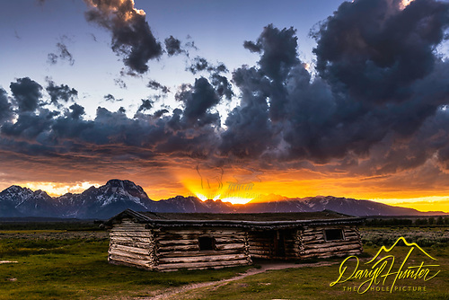 Amazing Sunset at Jackson Hole