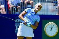 Lexi Thompson (USA) watches her tee shot on 1 during Sunday's final round of the 2017 KPMG Women's PGA Championship, at Olympia Fields Country Club, Olympia Fields, Illinois. 7/2/2017.<br /> Picture: Golffile   Ken Murray<br /> <br /> <br /> All photo usage must carry mandatory copyright credit (&copy; Golffile   Ken Murray)