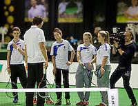 13-02-14, Netherlands,Rotterdam,Ahoy, ABNAMROWTT, Clinic with Sjeng Schalken<br /> Photo:Tennisimages/Henk Koster