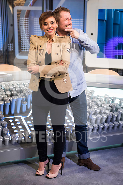Chenoa and Sergio Fernandez Melendez (El Monaguillo) during the presentation of the new TV program to Movistar+,  &quot; Likes &quot; at 7 y accion studios in Madrid. January 27, 2016.<br /> (ALTERPHOTOS/BorjaB.Hojas)