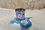 Tub Floaty lets you lay back in the bath to enjoy your favourite Ben and Jerry's ice cream