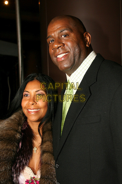 MAGIC JOHNSON & COOKIE (WIFE).16th Annual NAACP Theatre Awards - Arrivals held at the Director's Guild of America, Los Angeles, California, USA..February 20th, 2006.Photo: Zach Lipp/AdMedia/Capital Pictures.Ref: ZL/ADM.headshot portrait married husband.www.capitalpictures.com.sales@capitalpictures.com.© Capital Pictures.