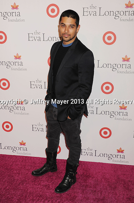 HOLLYWOOD, CA- SEPTEMBER 28: Actor Wilmer Valderrama arrives at the Eva Longoria Foundation Dinner at Beso restaurant on September 28, 2013 in Hollywood, California.