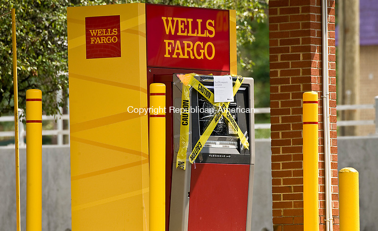 WATERBURY, CT-0712817JS02--Someone attempted to break into the drive-up ATM at the Wells Fargo Bank on Chase Avenue in Waterbury. <br />  Jim Shannon Republican-American