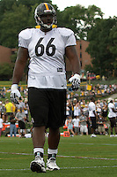 Tony Hills, Pittsburgh Steelers offensive tackle. Training camp, August 11, 2011 at Latrobe, Pennsylvania.