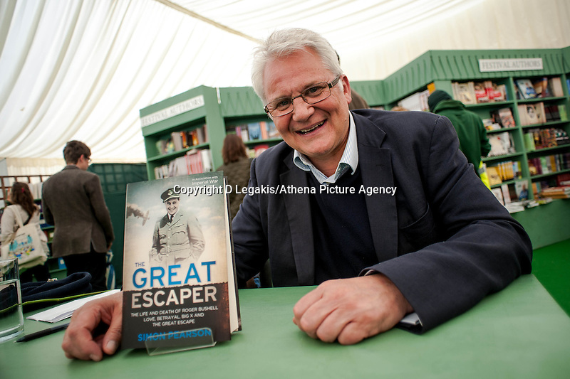 Thursday  29 May 2014, Hay on Wye, UK<br /> Pictured: Simon Pearson <br /> Re: The Hay Festival, Hay on Wye, Powys, Wales UK.