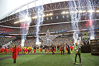 SEATTLE, WA - NOVEMBER 10: General view of the opening ceremonies at the MLS Cup during a game between Toronto FC and Seattle Sounders FC at CenturyLink Field on November 10, 2019 in Seattle, Washington.