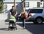 November 23rd 2012<br /> <br /> <br /> Katherine Heigl shopping in Los Angeles with her husband Josh Kelley &amp; the new baby  <br /> Adalaide Marie Hope the name means &quot;noble kind&quot; in Old German.<br /> The couple went to Party city with new baby carrying big rolls of Christmas holiday wrapping paper &amp; balloon time presents <br /> <br /> AbilityFilms@yahoo.com<br /> 805 427 3519<br /> www.AbilityFilms.com