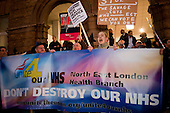 Protest against cuts at Barts and the London NHS Trust, Royal London Hospital, Whitechapel.