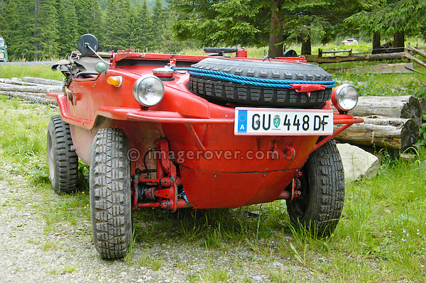 Austria, Boesenstein Offroad Classic, Hohentauern, Steiermark, 25-26.06.2005. Volkswagen VW Schwimmkübel, GU448DF. --- No releases available. Automotive trademarks are the property of the trademark holder, authorization may be needed for some uses.