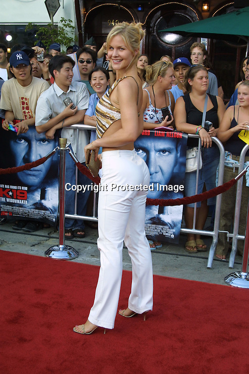 "©2002 KATHY HUTCHINS / HUTCHINS PHOTO.""K-19: THE WIDOWMAKER"" PREMIERE.WESTWOOD, CA.7/15/02..JOSIE DAVIS"