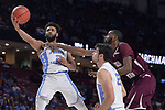 GREENVILLE, SC - MARCH 17: Joel Berry II (2) of the University of North Carolina puts up a shot under coverage from Marvin Jones (24) of Texas Southern University during the 2017 NCAA Men's Basketball Tournament held at Bon Secours Wellness Arena on March 17, 2017 in Greenville, South Carolina. (Photo by Grant Halverson/NCAA Photos via Getty Images)