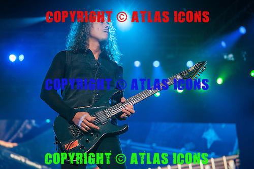 Kirk Hammett; METALLICA; Live: 2012<br /> Photo Credit: JOSH WITHERS/ATLASICONS.COM