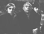 Bor. M. Gladbach Trainer Hennes Weisweiler mit Guenter Netzer und Gesch.-Fuehrer Helmut Grashoff am 24.03 1970 in Braunschweig<br /> <br /> <br /> Foto &copy; nordphoto *** Local Caption ***