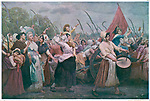 The women of Paris march to  Versailles.         Date: 5 October 1789