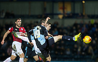 Michael Harriman of Wycombe Wanderers goes close to goal during the Sky Bet League 2 match between Wycombe Wanderers and Crawley Town at Adams Park, High Wycombe, England on 28 December 2015. Photo by Andy Rowland / PRiME Media Images