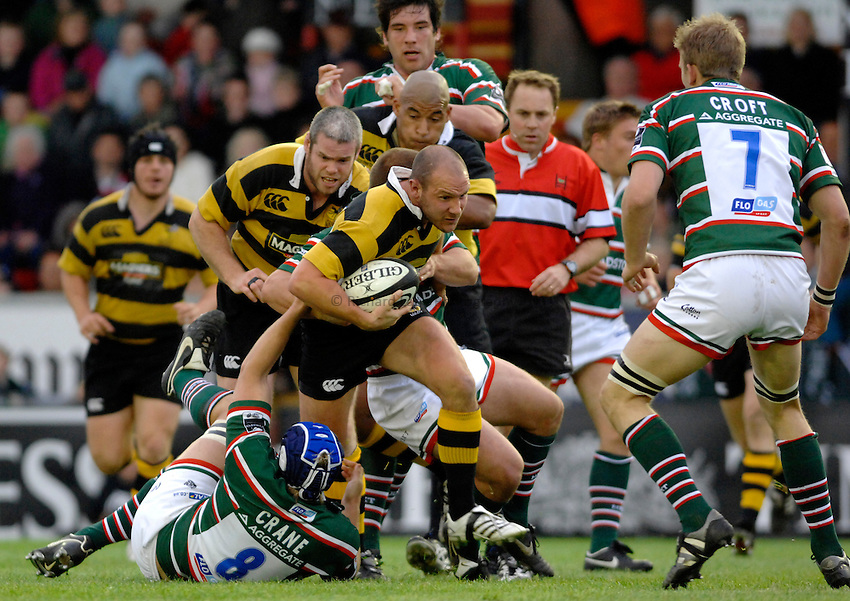 Photo: Richard Lane..Leicester Tigers A v London Wasps A. Guinness A League Final. 07/05/2007. .Wasps' James Brooks attacks.