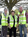 jackie O'Shea and Pat Kiernan who took part in the Julianstown Village clean up. Photo:Colin Bell/pressphotos.ie