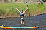 7/8/14 pm Stand Up Paddle Colorado Upper Colorado River - Rancho Del Rio to State Bridge