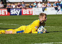 Goalkeeper Rob Lainton of Cheltenham Town (on loan from Bury) during the Sky Bet League 2 match between Wycombe Wanderers and Cheltenham Town at Adams Park, High Wycombe, England on the 8th April 2017. Photo by Liam McAvoy.