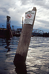Hazardous waste site, Willamette River, Portland, Oregon State, Pacific Northwest, USA,.