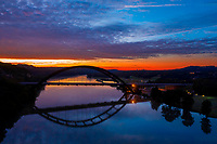 Lake Austin provides great framing for 360 Pennybacker Bridge and its reflection. Photographers love to shoot this iconic structure during a beautiful sunrise.