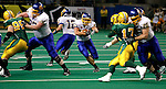 FARGO, ND - NOVEMBER 22th, 2008 : Tyler Duffy, South Dakota State running back, finds a hole in the defense and gains some yardage for the Jacks during their game Saturday evening at the Fargodome on the campus of North Dakota State University in Fargo, ND. (Photo By Ty Carlson/Inertia)